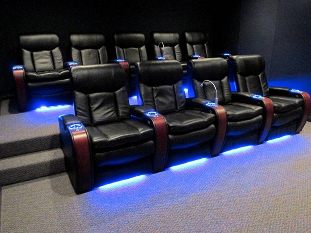 Home Theatre Sofa Seating Three Common Home Theater Layout