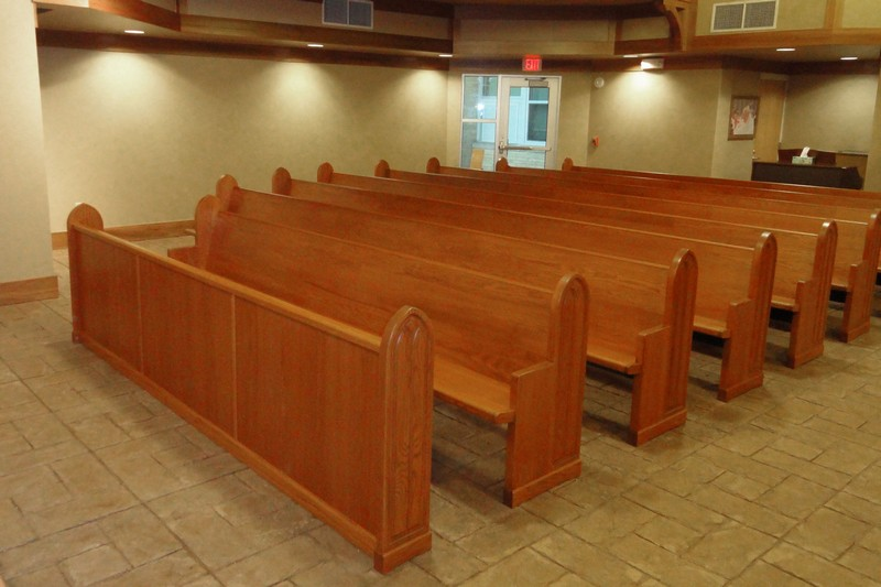 Large sanctuary with quality bench seats