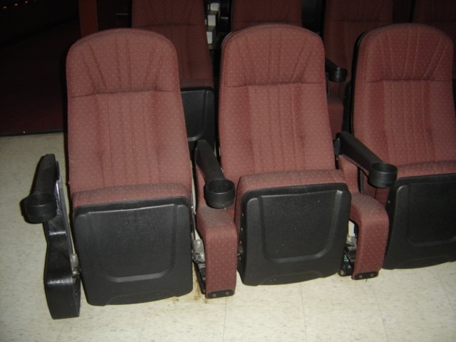 Mauve High Back Used Theater Seating
